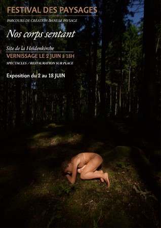 Affiche de l'exposition Nos corps sentant