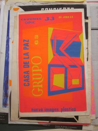 Grupo 65, Casa de la Paz. Cozumel 33 OPIC, affiche, sérigraphie,  1969, 50 x 32,5 cm. Archives Jorge Pérez Vega, collection Saúl Martínez. Photo Annabela Tournon