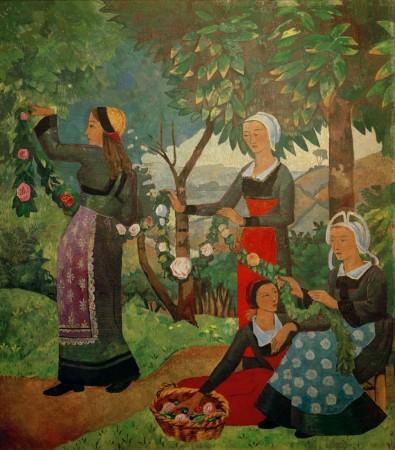 Paul Sérusier, La guirlande de roses, 1898 Huile sur toile, 194 × 175 cm. Inv. Nr. 10255 Genève, Musée du Petit Palais. crédit  ©akg-images